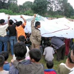 Concurso diurno de globos aerostaticos en Taunggyi
