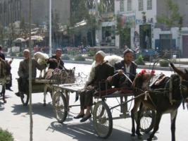 Domingo de mercado en Hotan